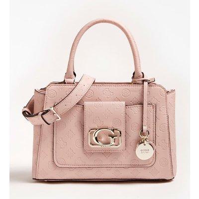 Guess Emilia Embossed Logo Handbag - 190231367154