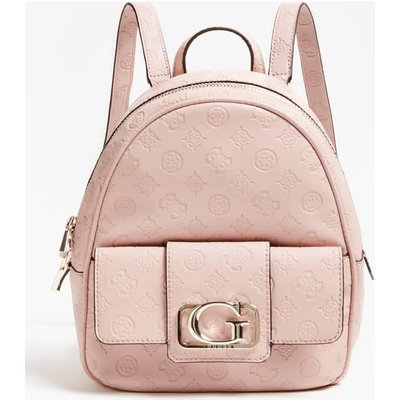 Guess Emilia Embossed Logo Mini Backpack - 190231392385