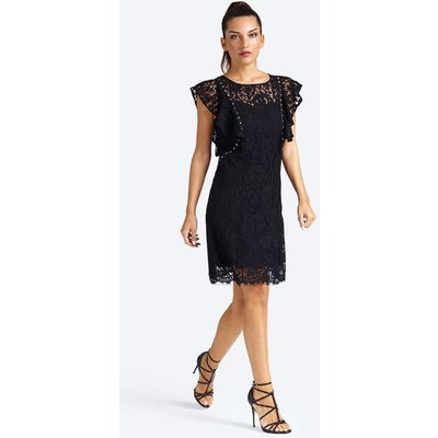 Guess Lace Stud Appliqué Dress
