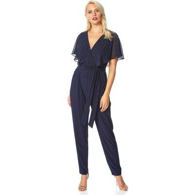 Sparkle Embellished Belted Jumpsuit