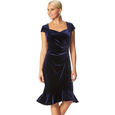 Velvet Sweetheart Flute Hem Dress
