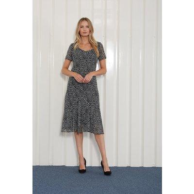 Julianna Spot Print Chiffon Dress