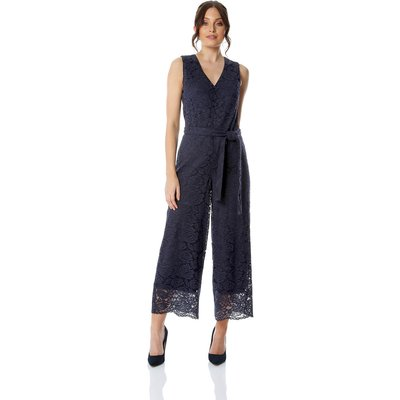 Lace V-Neck Culotte Jumpsuit