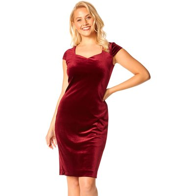 Velvet Sweetheart Neck Shift Dress