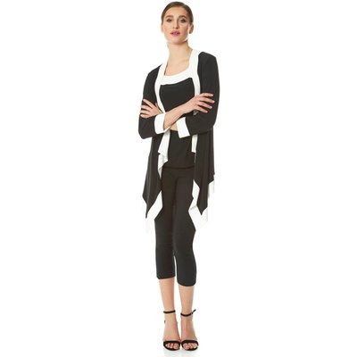 Contrast Trim Cover Up Cardigan