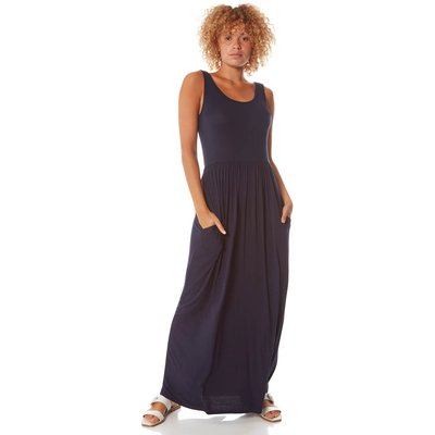 Square Back Jersey Maxi Dress