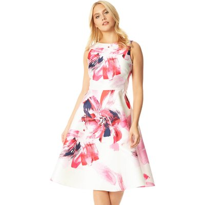 Floral Printed Jacquard Midi Dress