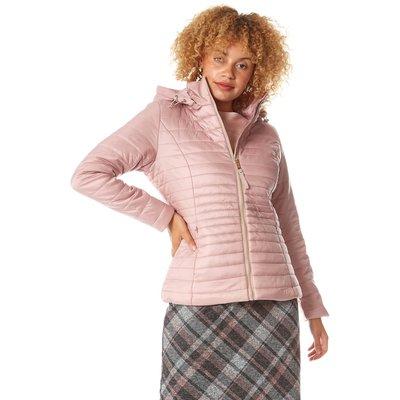 Hooded Zip Through Padded Coat