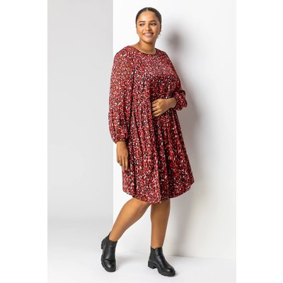 Curve Animal Print Lurex Tunic Dress