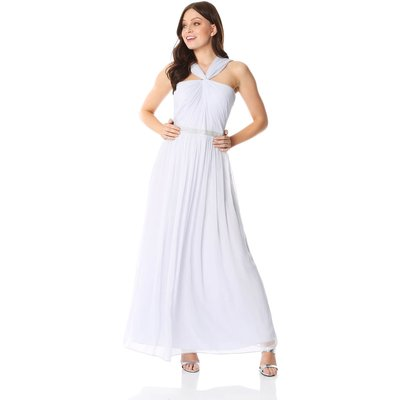 Bead Embellished Halterneck Maxi Dress
