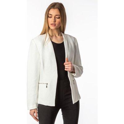 Zip Detail Pleat Jacket