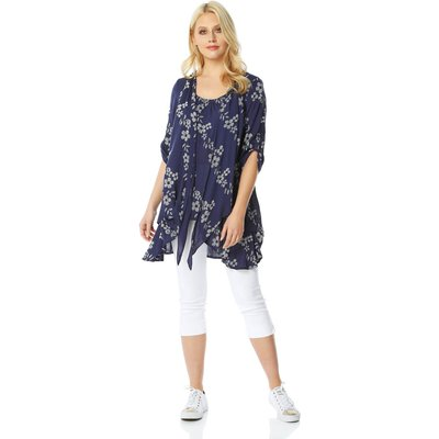 Floral Print Crinkle Tunic