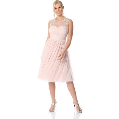 Bead Embellished Knee Length Dress