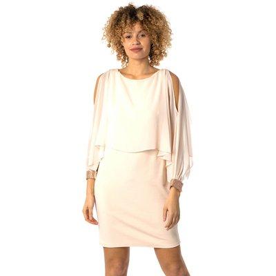 Chiffon Sparkle Embellished Cuff Dress