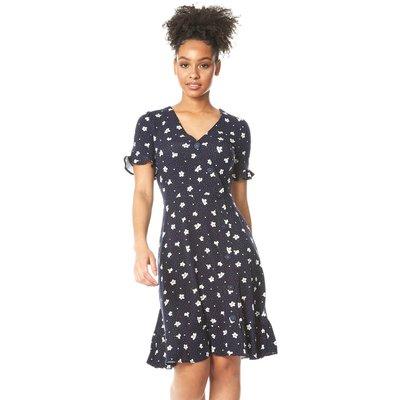 Floral Side Button Tea Dress