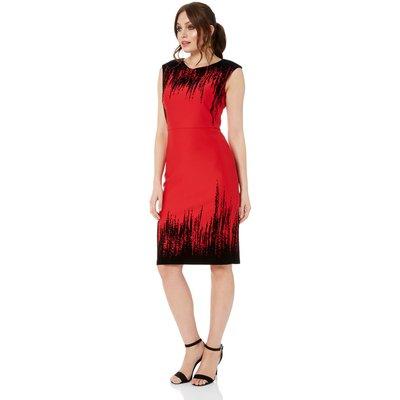 Flocking Detail Dress