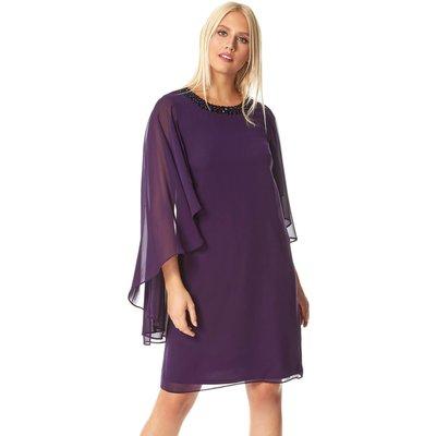 Embellished Trim Chiffon Dress