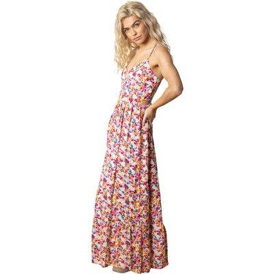Floral Cross Back Maxi Dress