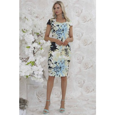 Julianna Floral Print Knee Length Shift Dress