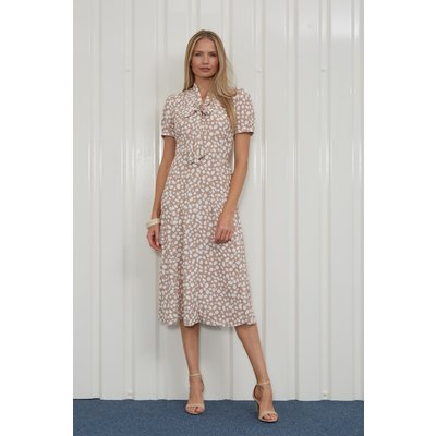 Julianna Spot Print Pussy Bow Dress