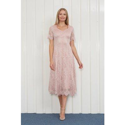 Julianna Laser Cut A-Line Dress