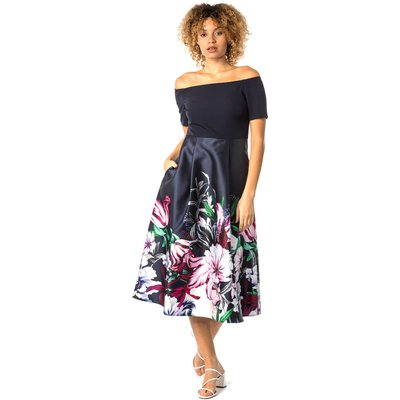 Bardot Floral Fit & Flare Dress