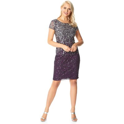 Ombre Sequin Shift Dress