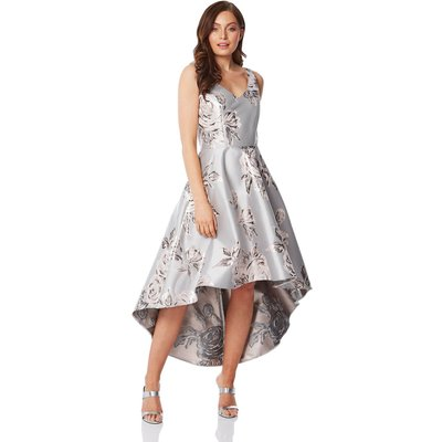 Jacquard Rose Gown Dress