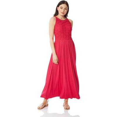 Lace Bodice Jersey Maxi Dress