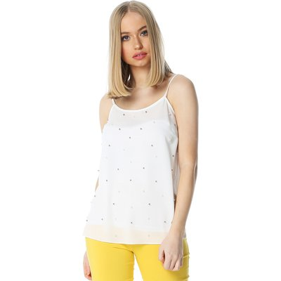 Pearl Embellished Camisole Top