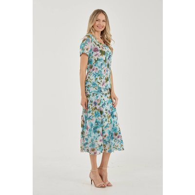 Julianna Floral Chiffon Panel Skirt