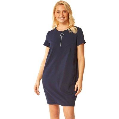 Zip Detail Tunic Pocket Dress
