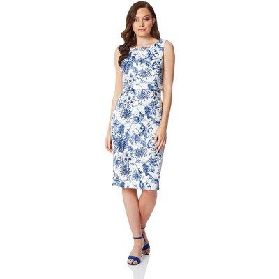 Floral Double Layer Scuba Dress