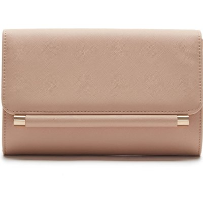 Foldover Metal Bar Clutch Bag