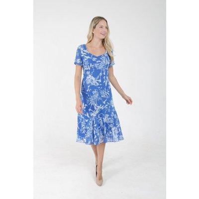 Julianna Floral Print Bias Cut Midi Dress