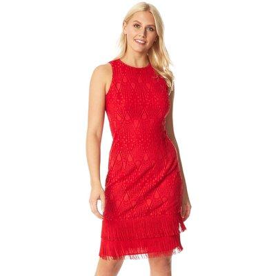 Lace Tassel Sleeveless Flapper Dress