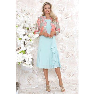 Juiana Fit & Flare Side Ruffle Dress