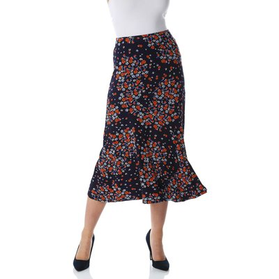 Panel Ditsy Floral Skirt