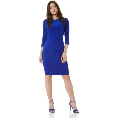 3/4 Sleeve Twist Waist Dress