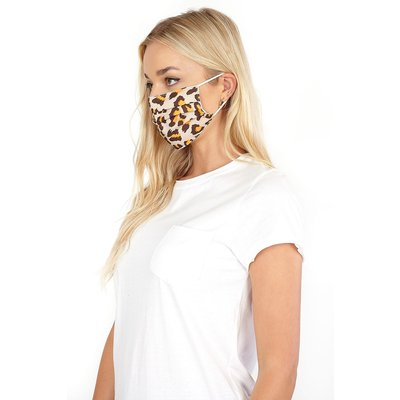 Leopard Print Fast Drying Fashion Face Mask