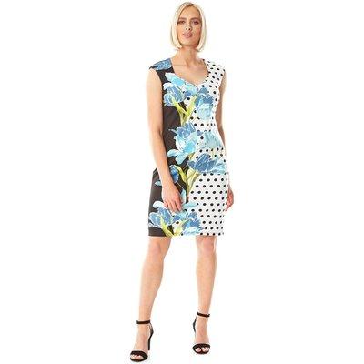 Sweetheart Spot Floral Scuba Dress