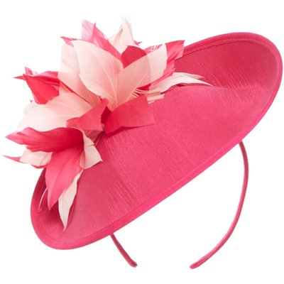 Contrast Feather Disc Fascinator