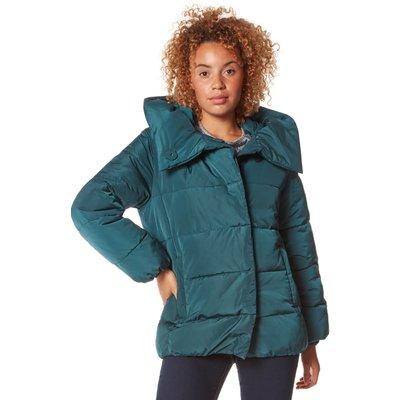 Short Duvet Wrap Padded Coat