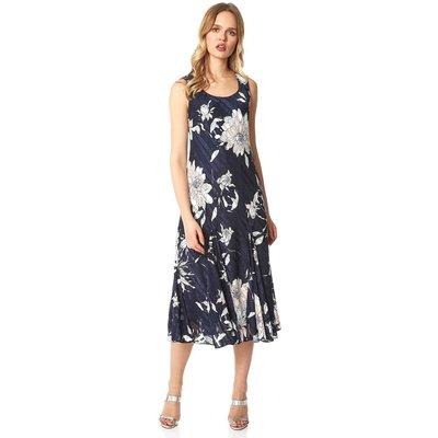 Floral Bias Cut Midi Dress