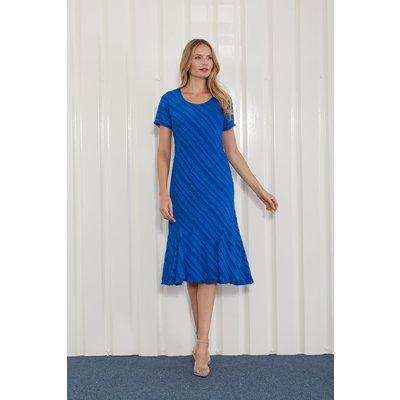 Julianna Burnout Stripe Print Dress
