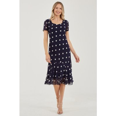 Julianna Spot Print Chiffon Dress