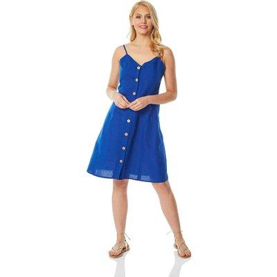 Button Through Cami Shift Dress
