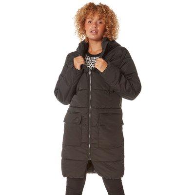 Longline Zip Through Padded Coat