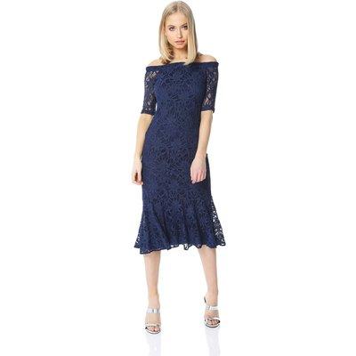 Lace Midi Bardot Dress