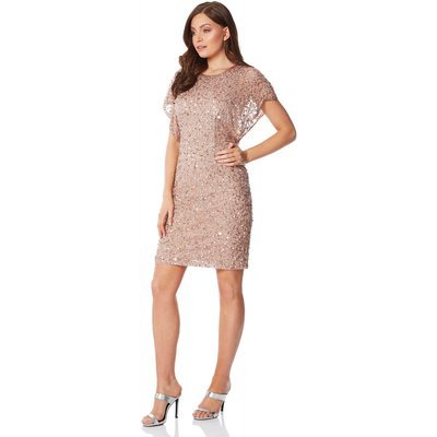 Sequin Embellished Angel Sleeve Dress